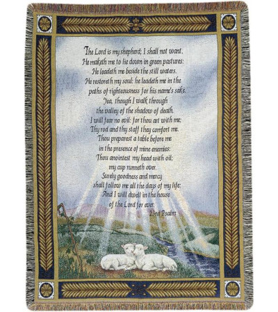 PSALM 23 MEMORIAL THROW