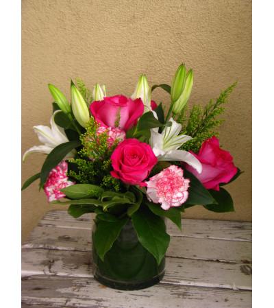 Lilies & Roses Arrangement