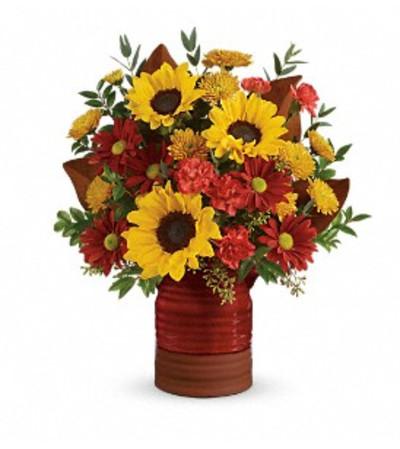 Teleflora's Sunshine Crock Bouquet