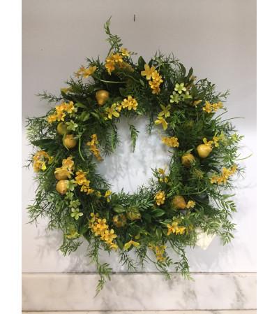 Yellow Pear Wreath