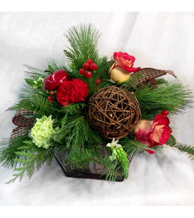Rustic Holidays Table Centerpiece