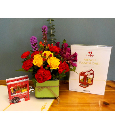 JUST BECAUSE LovePop Card with an Arrangement