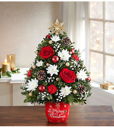 Little Christmas Holiday Flower Tree