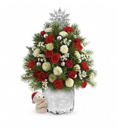 Teleflora S.A Hug cuddly Christmas Tree
