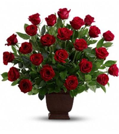 Rose Basket - by Jennifer's Flowers