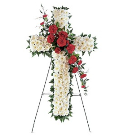 Hope and Honor Cross - by Jennifer's Flowers