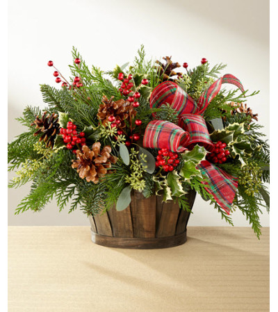 Holiday Homecoming Evergreen Basket