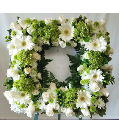 Green Floral Picture Frame