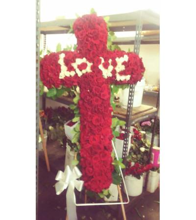 red rose cross