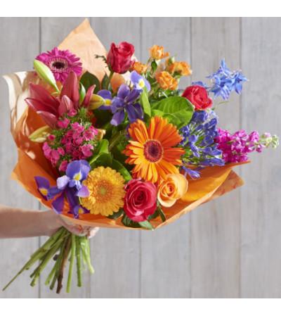 Flower Towne's European Hand-tied bouquet