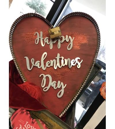 Happy Valentines Day Yard Sign