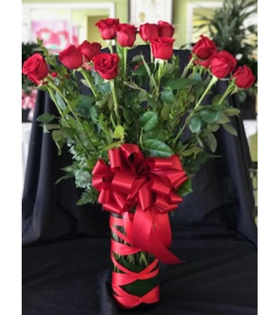 24 Long Red Roses