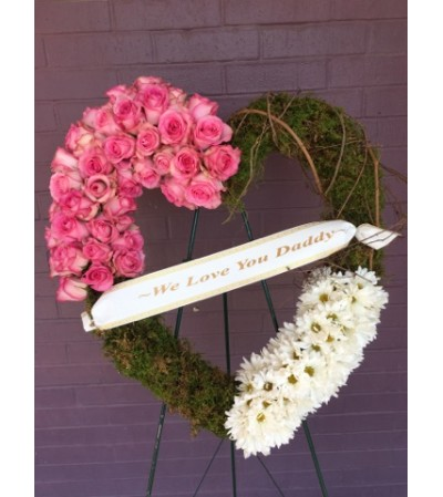 MOSSY PINK HEART