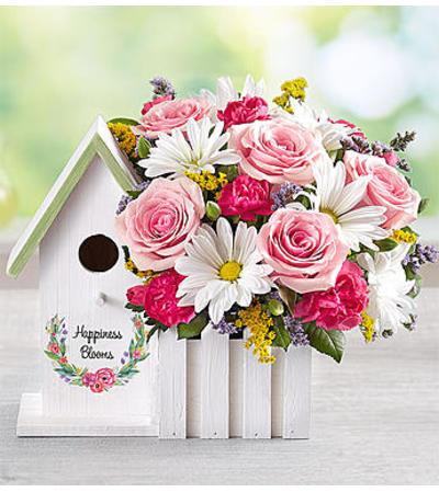 Happiness Blooms Birdhouse