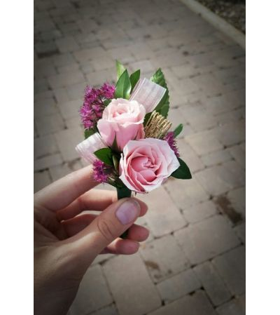 Berry Pink Boutonniere