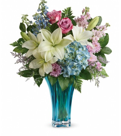 Blown Glass Blue Vase