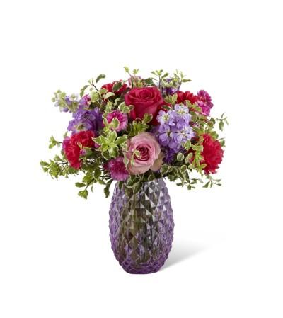 Purple Textured Vase
