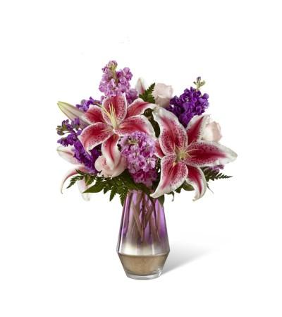 Fuchsia Glass Vase