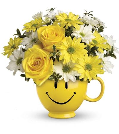 Be Happy Bouquet with yellow Roses