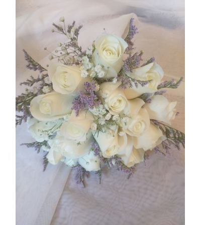 Misty Blue Bridal Bouquet