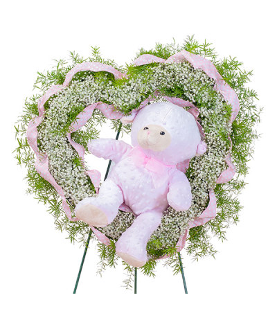 Tiny Angels Wreath in Pink DW