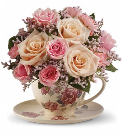 Teleflora's Victorian Teacup Bouquet