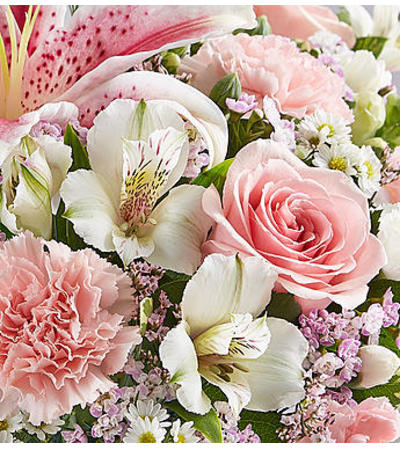 Florist's Choice Pink & White Bouquet