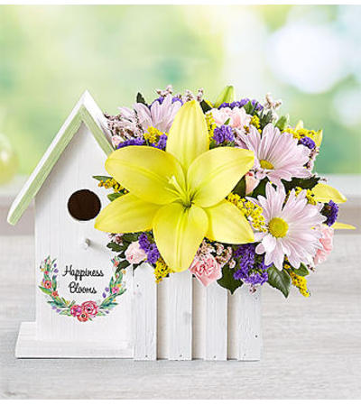 Happiness Blooms™ Birdhouse - Yellow