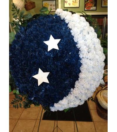 Funeral Custom Moon & Stars Sympathy