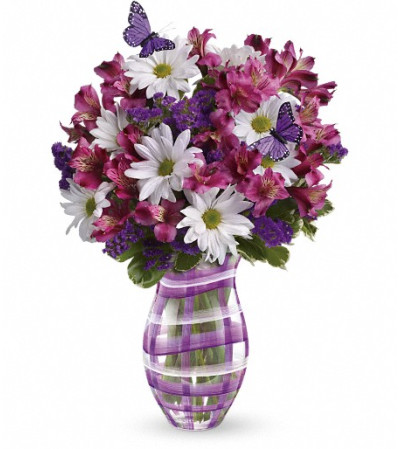 Teleflora's Lavender Plaid Bouquet