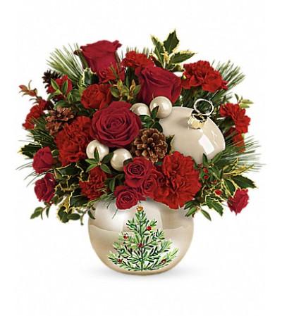 Teleflora's Classic Pearl Ornament Bouquet