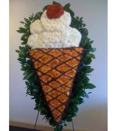 Funeral Custom Ice Cream Sympathy Piece