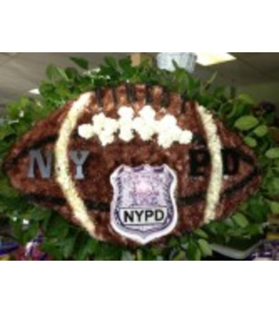 Funeral Custom NYPD Football Piece