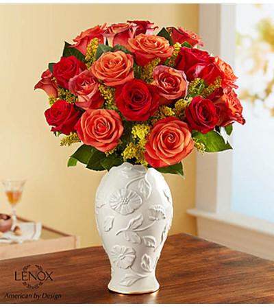 Autumn Sunset Bouquet in Lenox® Vase