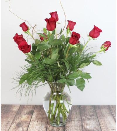 Rudy's Classic Dozen Red Roses