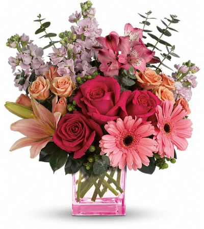 Teleflora's Painterly Pink Bouquet