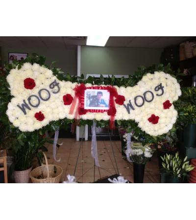 Funeral Custom Dog Bone Sympathy Piece