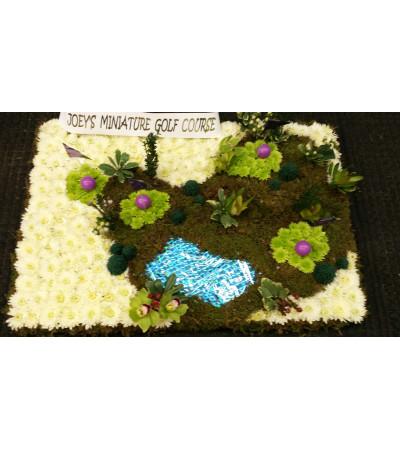 Custom Mini Golf Funeral
