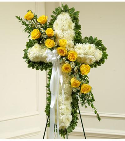 Yellow Sympathy Cross