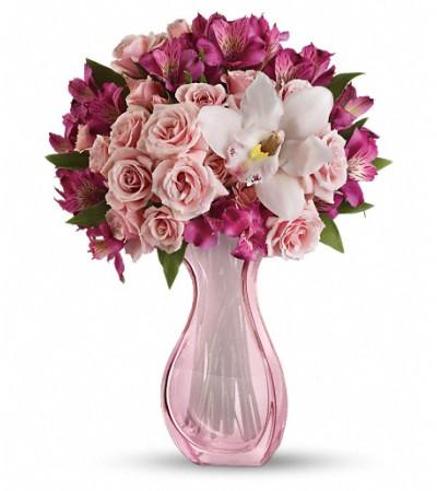 Teleflora's  Pink Fire Bouquet
