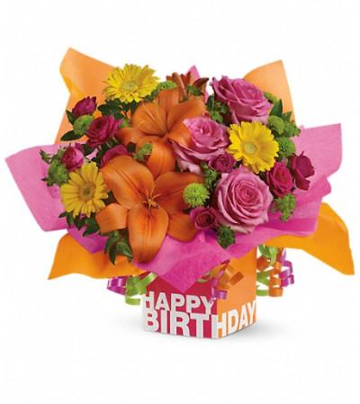 Teleflora's Rosy Birthday Present