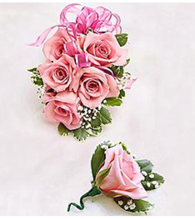 Boutonniere & Corsage Pink