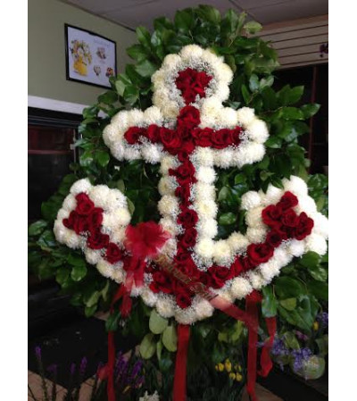 Funeral Custom Anchor Sympathy Piece