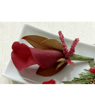 The FTD® Red Calla Boutonniere