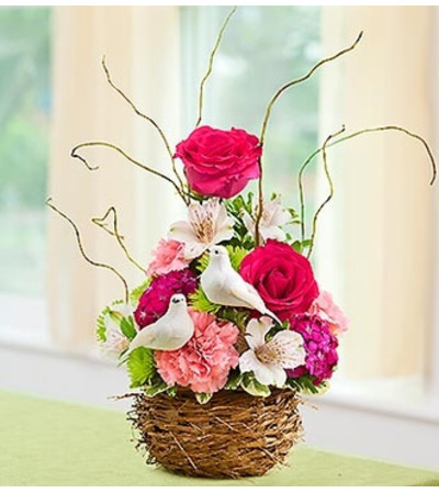 Love Bird Nest Bouquet