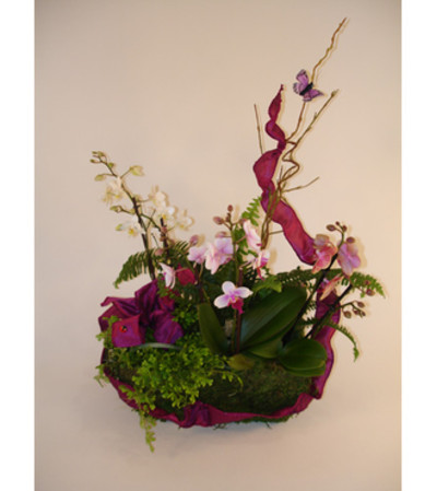 Mini Orchids in a Basket (Large)