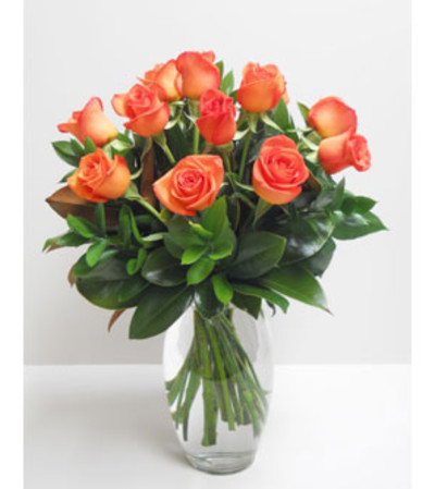 1 Dz. Tangerine Orange roses