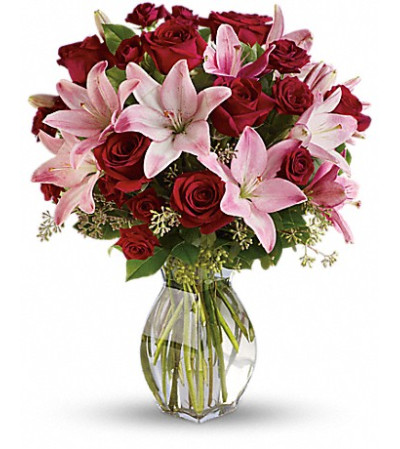 Lavish Love Roses and Lilies