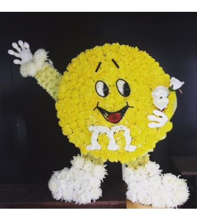 Yellow M&M Custom Sympathy Piece
