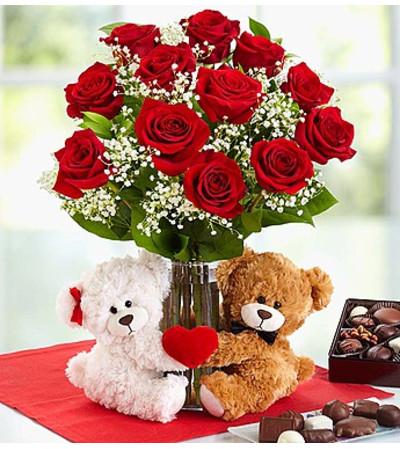 Abundant Love™ Teddy Bear & Chocolate